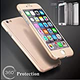 Best Merit Iphone 6 Case With Covers - 360° Full Hybrid Tempered Glass + Acrylic Hard Review