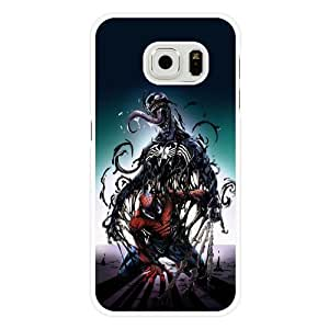 Samsung Galaxy S6 Case, UniqueBox Customized Marvel Comics Spider Man White Hard Plastic Case Only Fit For Samsung Galaxy S6