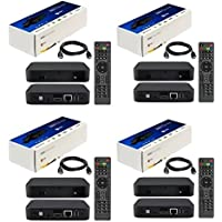 PACKAGE OF 4  MAG 322 W1 IPTV BOX + IN BUILT WIFI + HDMI CABLE + REMOTE + POWER ADAPTER