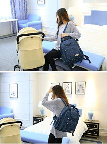 Global- 30 * 20 * 38 cm de nylon impermeable de gran capacidad paquete de la momia, de la manera extraña de viaje esencial multifunción mochila, Multifunción mujeres embarazadas Saliendo mochila ( Col # 2