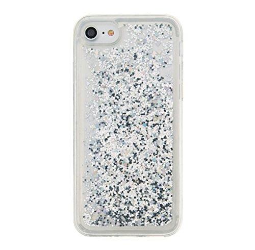 Für Apple iPhone 7 (4,7 Zoll) Hülle ZeWoo® TPU Schutzhülle Silikon Tasche Case Cover - GS126 / Silber