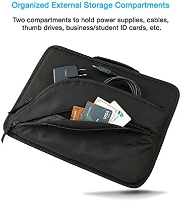 a84ff7e797e2 Cyber Acoustics Protective Work-in Laptop Case and Shoulder Bag for 13-14.1  Inch Chromebook, Ultrabook and Notebook for Students, Classroom and ...