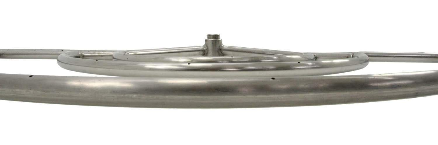 High Capacity Propane Gas HPC Round Stainless Steel Fire Pit Burner FRS-30HC-LP Hearth Products Controls 30-Inch