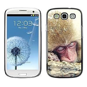 SHIMIN CAO- Dise?o Caso duro de la cubierta Shell protector FOR Samsung Galaxy S3 I9300 I9308 I737- Monkey Cute Animal