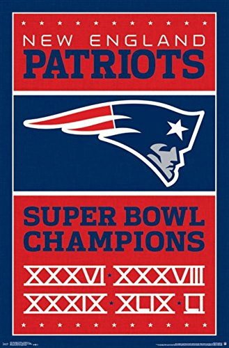 """Trends International New England Patriots Champions Wall Poster 22.375"""" X 34"""""""
