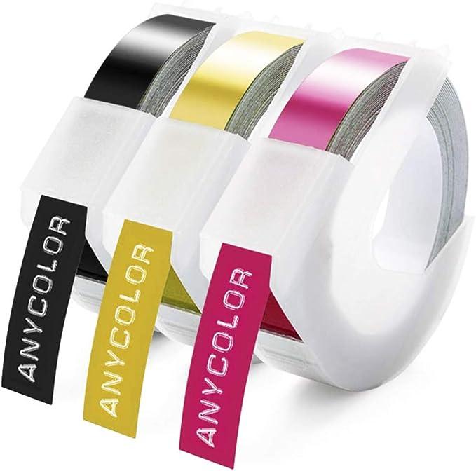 Anycolor 3D Etiquetas Embossing Impresora cinta de etiquetas ...