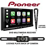 Pioneer AVH-2330NEX 7'' DVD Receiver HD Radio Apple CarPlay Built in Bluetooth with License Plate Style Backup Camera and a FREE SOTS Lanyard