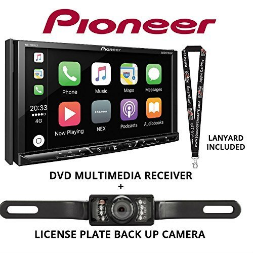Pioneer Avh 2330nex 7 Dvd Receiver Hd Radio Apple Carplay Built In Bluetooth With License Plate Style Backup Camera And A Free Sots Lanyard