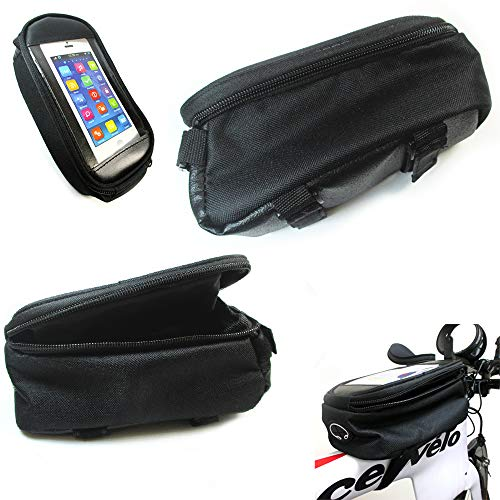 2 Bike Saddle Bag Waterproof Bicycle Front Tube Strap Pouch Cycling Storage GPS