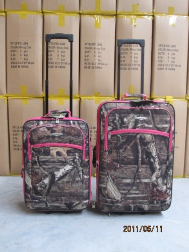 Explorer Hunting Luggage Travel Bag Mossy Oak -Realtree Outdoor Like- Hunting Camo Heavy Duty Rolling Duffel Bag with Pulling Handle Wheels with Adjustable Removable (MossyoakPinkL090-3) by Explorer products (Image #5)
