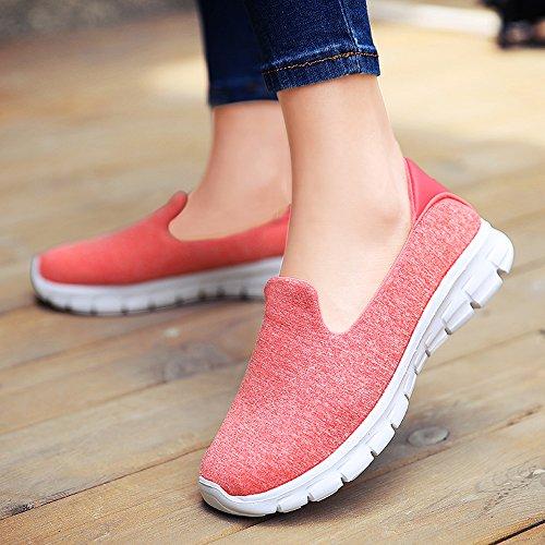 Mocassino Da Donna Enllerviid Slip-on Easy Scarpe Da Passeggio Casual Sneakers Da Ginnastica Sportive Mocassini Comfort 3905 Rosa