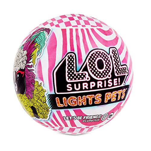 L.O.L. Surprise! Lights Pets with Real Hair & 9 Surprises including Black Light Surprises