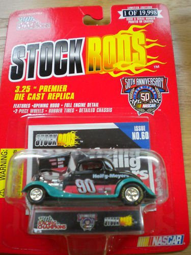 (Racing Champions - Stock Rods Series - 3.25 inch Replica - NASCAR 50th Anniversary Limited Edition - Dick Trickle - 1950 Ford Coupe - Heilig Meyers #90 - Issue #126)