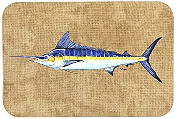 "Caroline's Treasures 8818JCMT ""Blue Marlin"" Kitchen or Bath Mat, 24"" by 36"", Multicolor"