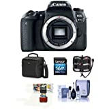 Canon EOS 77D DSLR Body - Bundle 16GB SDHC Card, Holster Case, Cleaning Kit, Memory Wallet, Card Reader, Mac Software Package