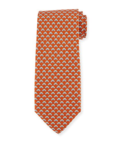 Slavatore Ferragamo Orange Teddy Bear Neck Tie