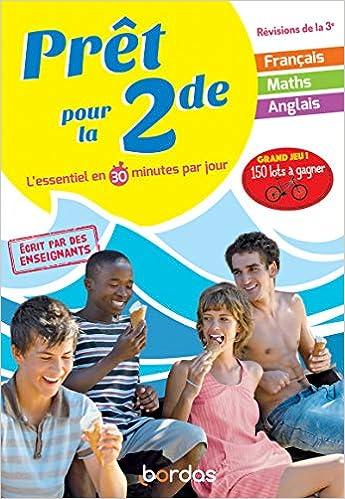 Amazon Fr Pret Pour La 2nde Cahier De Vacances Revisions De La 3eme Le Gall Pierre Bertone Cedric Maurel Rodolphe Chocolatine Did Livres