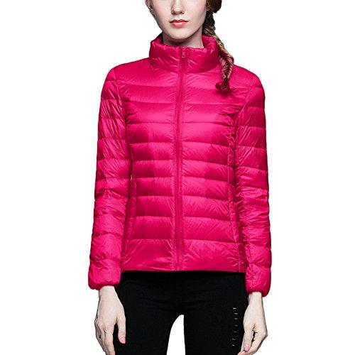 Rose Giacche Stand Casual Inverno Giacca Piumino Collar Donna Bmeigo Slim Rivestimento Thin wPAAqF