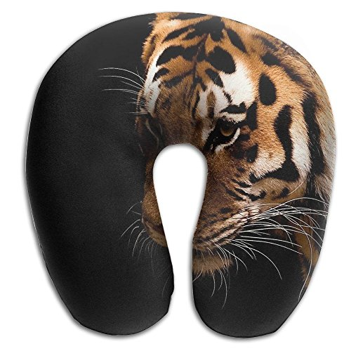 Owen Pullman Travel Pillow Black Tigers Animal Memory Foam Neck Pillow Comfortable U Shaped Neck Support Plane Pillow