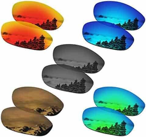 2ae1fb972a1fb SmartVLT Set of 5 Men s Replacement Lenses for Oakley Monster Dog Sunglass  Combo Pack S02