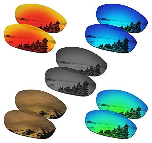 SmartVLT Set of 5 Men's Replacement Lenses for Oakley Monster Dog Sunglass Combo Pack S02