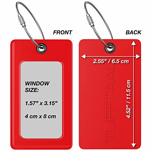 Luggage Tags TUFFTAAG, Business Card Holder, Suitcase Labels, Travel Accessories by ProudGuy (Image #4)
