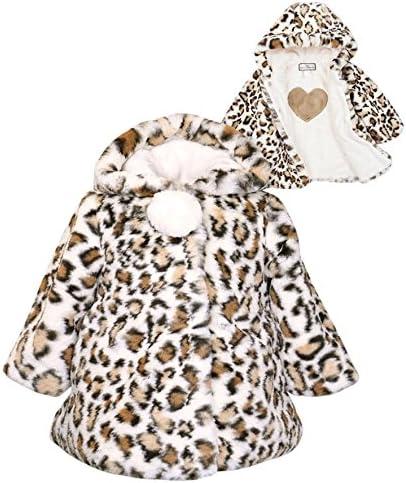Kids Size 6X Widgeon American Hooded A-Line Pom Pom Coat