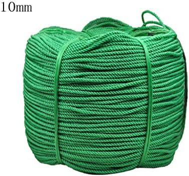 ZHWNGXO 10mm Polyethylen Seil, Seil geflochtene 10m / 50m / 100m Grün Neubau Trocknen von Kleidung/gebündelt Waren Durable/Wasserdicht (Color : Green, Size : 50m)