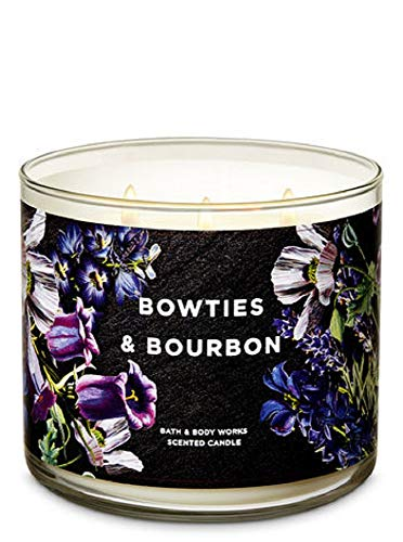 Bath and Body Works New for 2019 Bowties & Bourbon (bourbon, bergamot, citrus) 3 Wick Candle 14.5 oz
