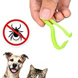Pluv Tick Removal Tool for Dogs, Cats and Humans | Ultra-Safe Tick Remover | Removes Entire Head & Body | Pain-Free Ticks Remover | 100% Chemical-Free Tick Control Products | Pack of 2