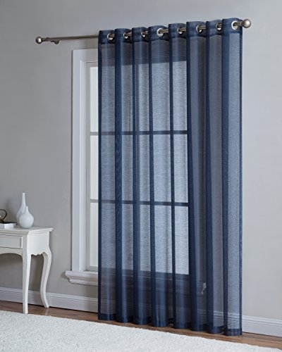 Grommet Semi-Sheer - 1 Extra Wide Patio Curtain Panel - 102 Inch Wide - 84 Inch Long - Natural Light Flow, and Durable Material - Ideal For Sliding and Patio Doors (Patio 102