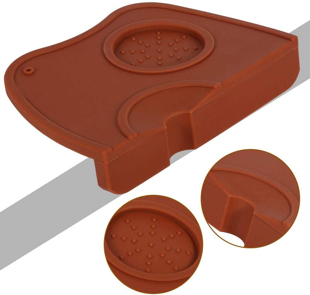 Silicone Coffee Tamper Mat Acogedor Espresso Tamper for Baristas with Non-Slippery Safe Silicone Espresso Silicone Tamper Mat Black