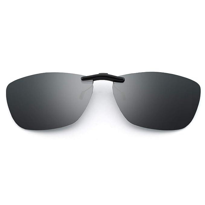 Gafas de sol de clip polarizado rectangular clip metálico ...