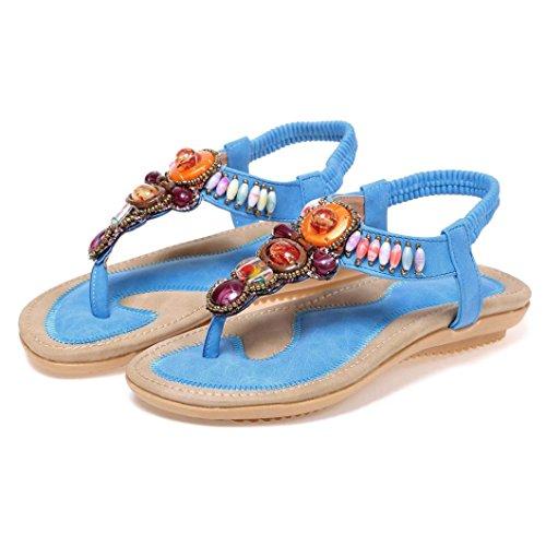 Schuhe Sandali SANFASHION Donna blu Damen Multicolore 144155 Bekleidung SANFASHION Multicolore tTTqP4H