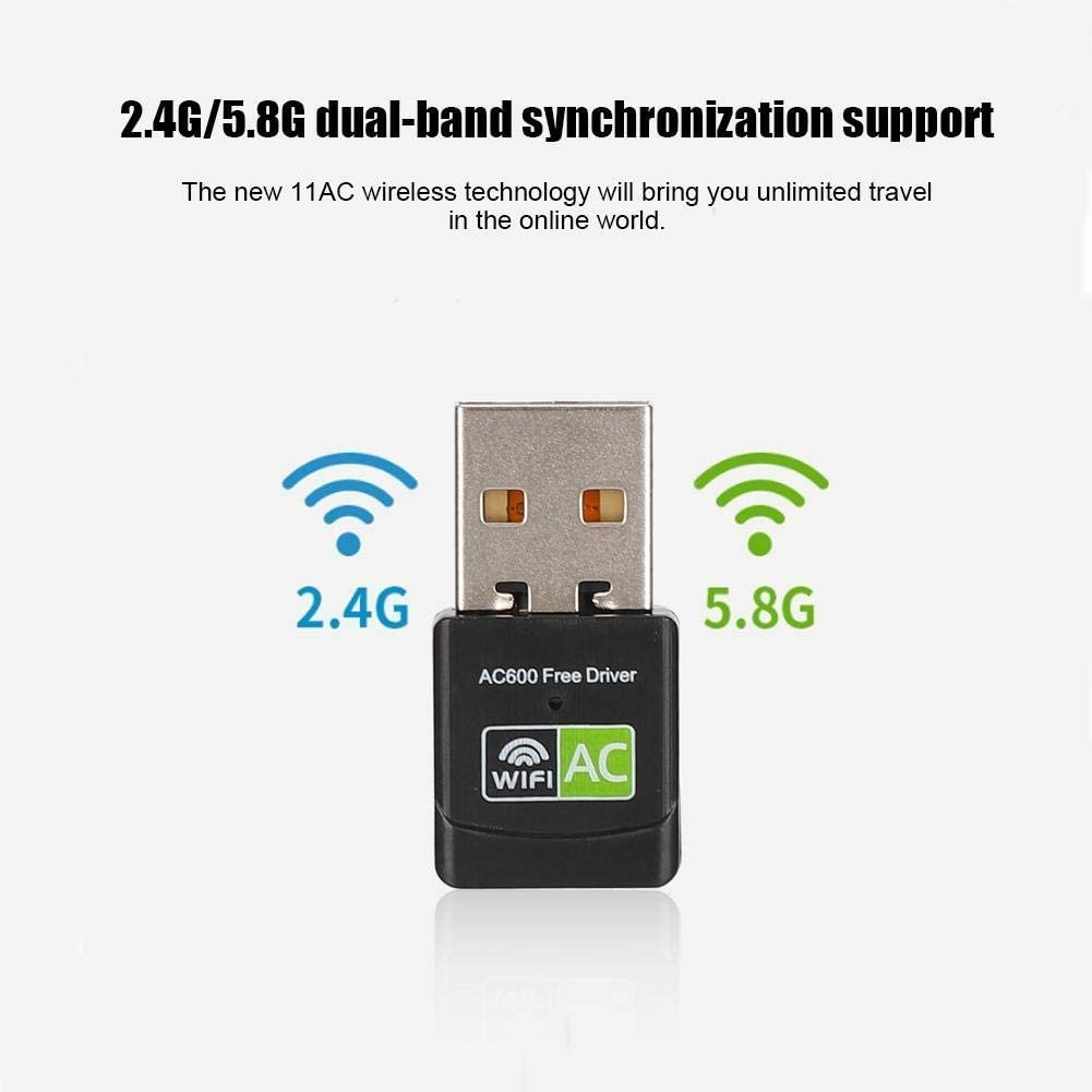 WYKDL Wireless Express Adapter USB Adapter Network Adapter,USB2.0 High Speed Connector,2.4G//5.8G Dual-Band WiFi Receiver Wireless Network Card Adapter for Realtek RTL8811
