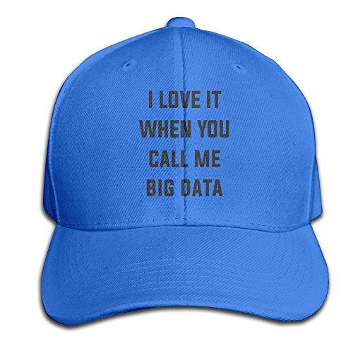 Fortinyro I Love It When You Call Me Big Data Men's Peaked Baseball Cap RoyalBlue (Rorschach Hat)