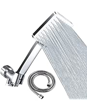 """Shower Head with Hose - 6 Settings Handheld Shower Head High Pressure Shower Heads with 59"""" Stainless Steel Shower Hose and Adjustable Bracket"""