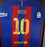 "Lionel ""Leo"" Messi Autographed Framed Barcelona Qatar Airways Nike Authentic Jersey Size XL PSA/DNA"