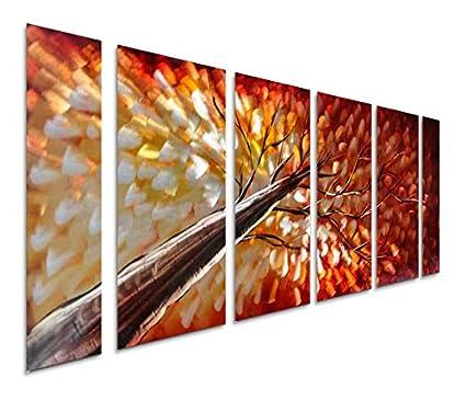 Amazon.com: Pure Art Gazing Skyward at Sunset Metal Wall Art, Large ...