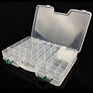Double-Sided Fishing Tackle Lure Box Organizer,Deep Large Fishing Lure Bait Hooks Tackle Accessory Storage Tra