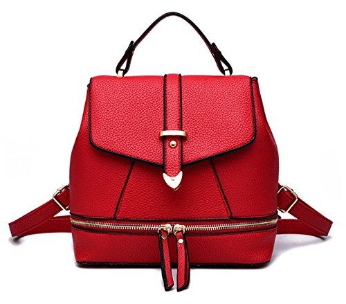 Oruil - Bolso mochila  de Material Sintético para mujer rojo