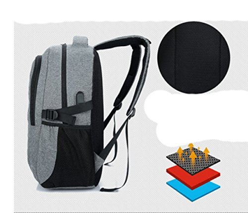 Backpack Shoulder Multi Cloth Leisure Business Bag Black Travel Laidaye Oxford purpose wzUxqqfP