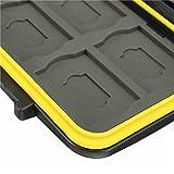 JJC-MCSD12-Water-Resistant-Holder-Storage-Memory-Card-Case-for-12-SD-Cards-Black