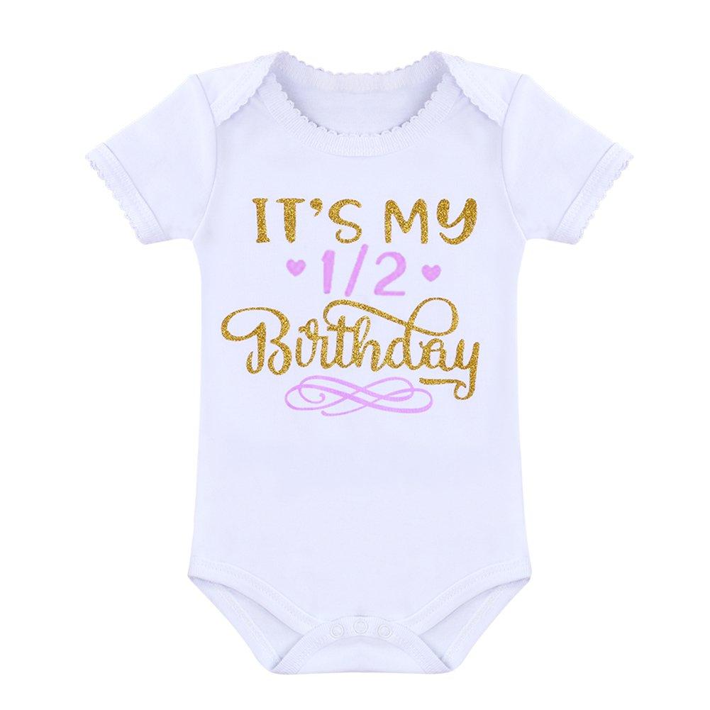 It/'s My 1st//2nd Birthday Outfit Baby Girl Romper Tutu Skirt Headband Leg Warmers 4pcs Set