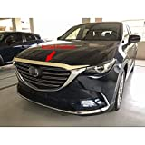Beautost Fit For Mazda CX-9 CX9 2017 2018 2019 2020 Chrome Front Hood Grill Cover Bonnet Trim
