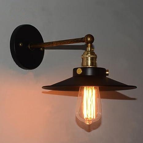 Retro Apliques de Pared Lámpara, Vintage Lámpara de Pared, Industrial Apliques Diseño de Metal Ajustable E27 Socket Retro Casa Decor Iluminación