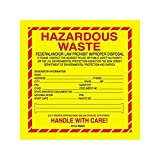 Box Packaging ''Hazardous Waste - New Jersey'' Labels, 6'' x 6'' 1- 500 rl/cs