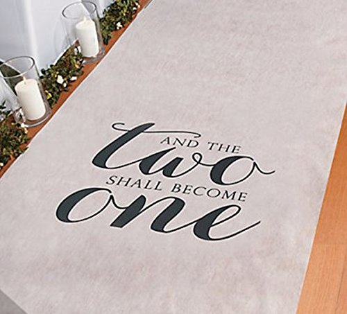 And The Two Shall Become One Wedding Aisle Runner 100 FT X 3 FT Wedding Aisle Decoration