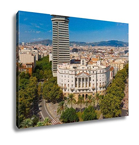Ashley Canvas, La Rambla In Barcelona Catalonia Spain, Home Decoration Office, Ready to Hang, 20x25, AG6375568 by Ashley Canvas