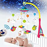 H HIBOBI Baby Musical Crib Mobile with Projection